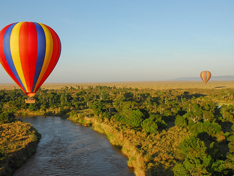 Hot-air balloon ride in the Masai Mara   Kenya
