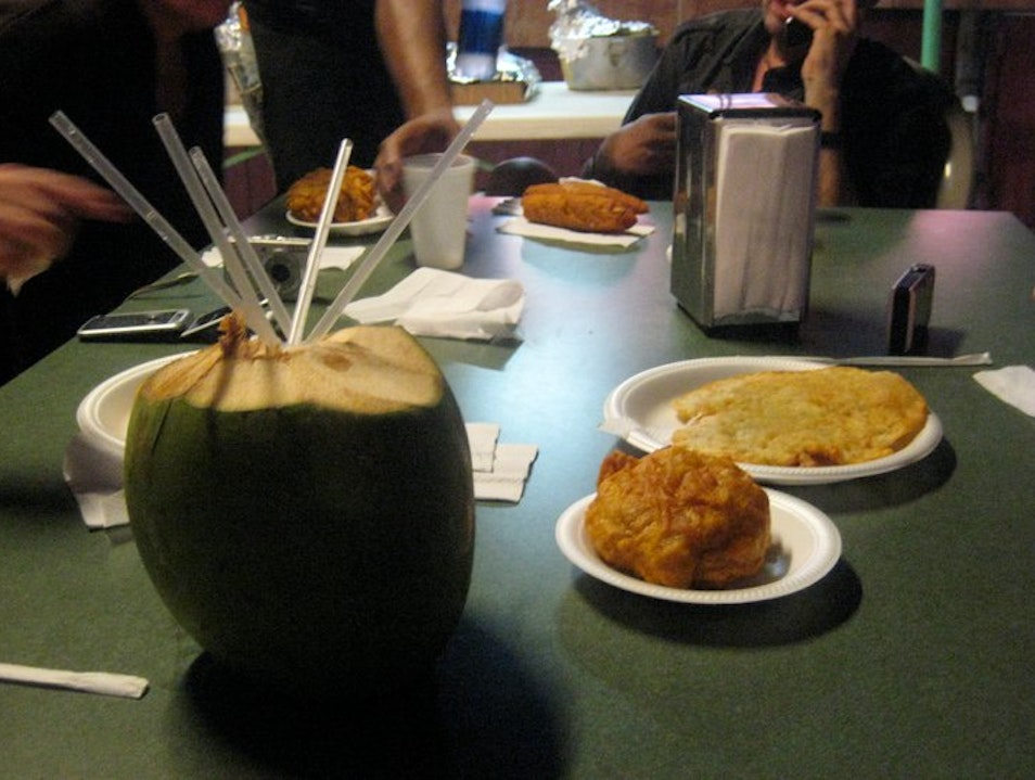 Drinking Coconut Water to Offset My Fritter Consumption