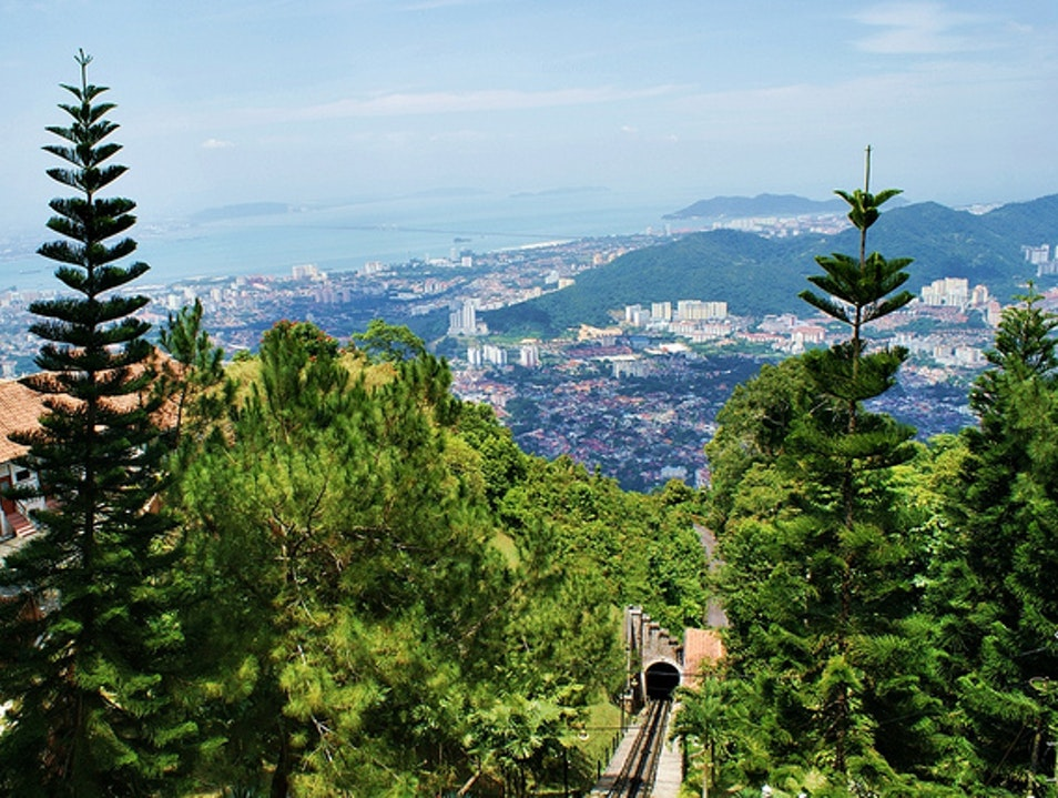 Ride the Funicular Up Penang Hill