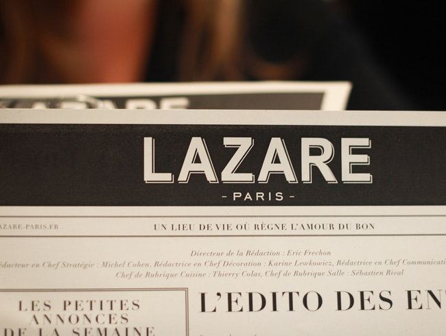 Rarefied Train Station Dining at Lazare