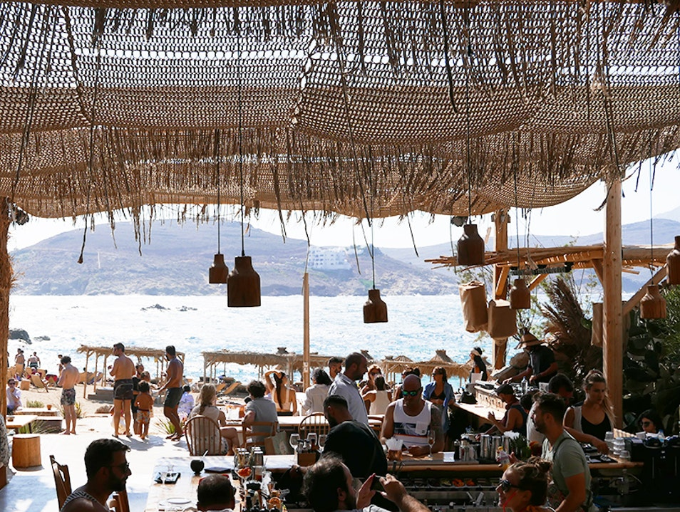 Alemàgou Beach Bar and Restaurant Mykonos  Greece