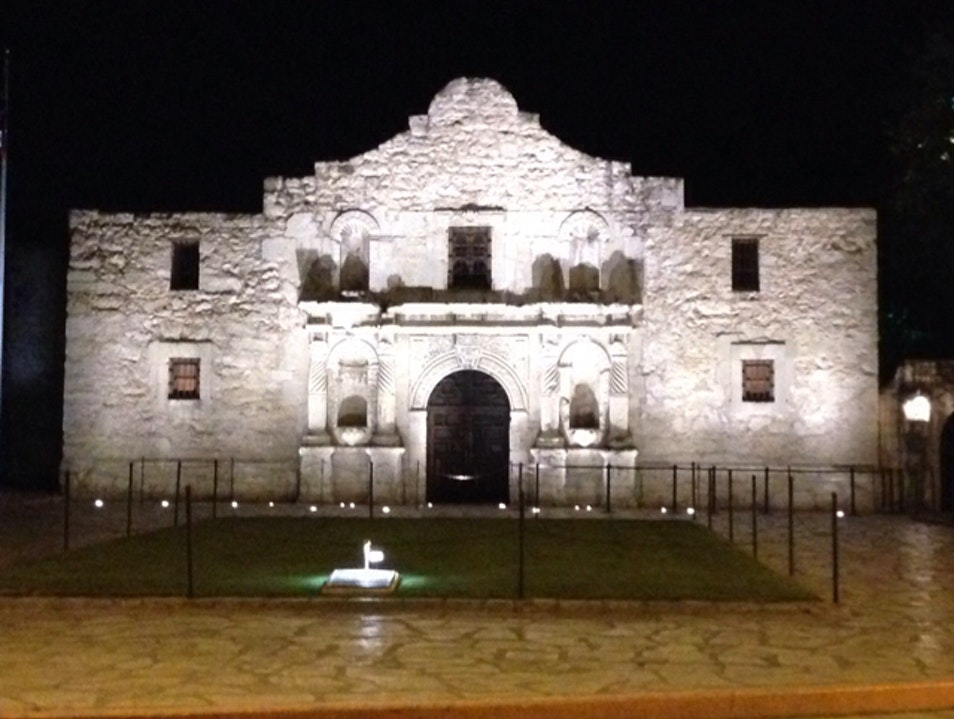 Alamo at Night San Antonio Texas United States