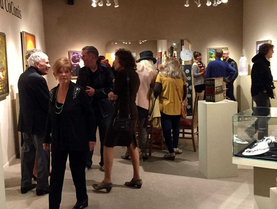 Reception for Ted CoConis at Lanning Gallery