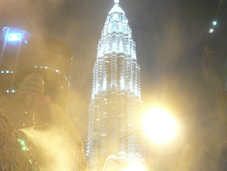 View from a steam pipe Kuala Lumpur  Malaysia