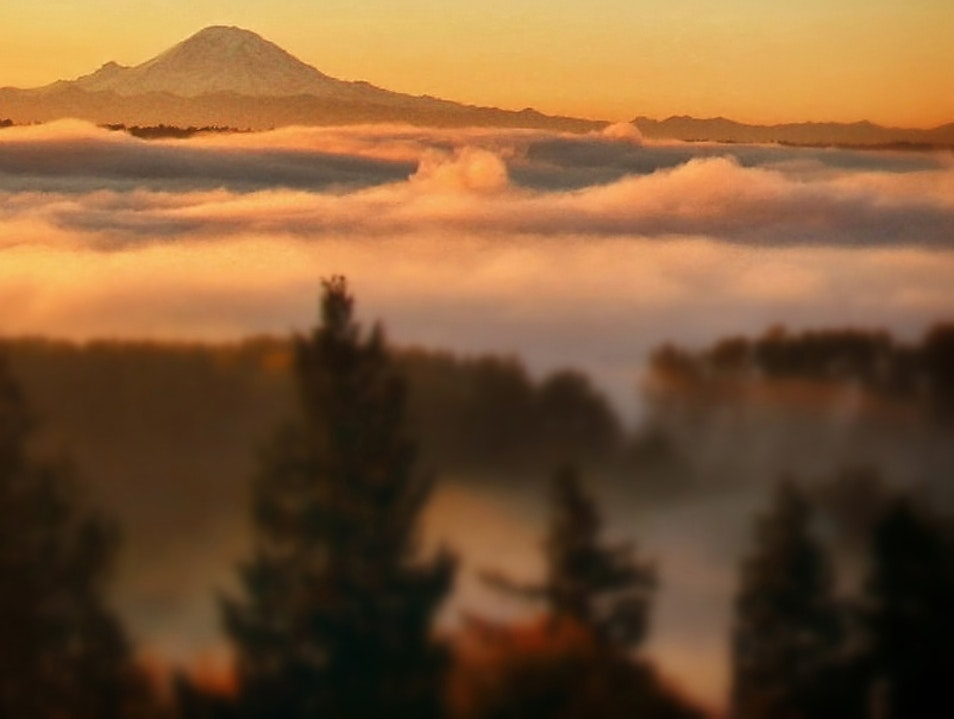 Above the fog, on top of the world Seattle Washington United States