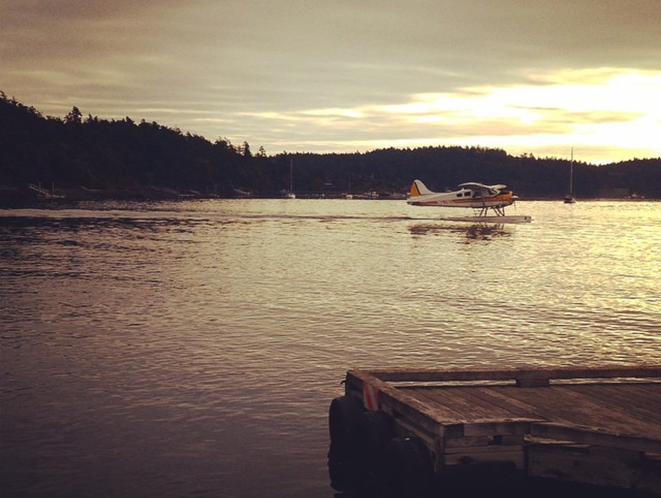 Arrive by Seaplane Friday Harbor Washington United States