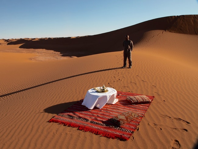 YOUR OWN PRIVATE TENT CAMP IN THE SAHARA