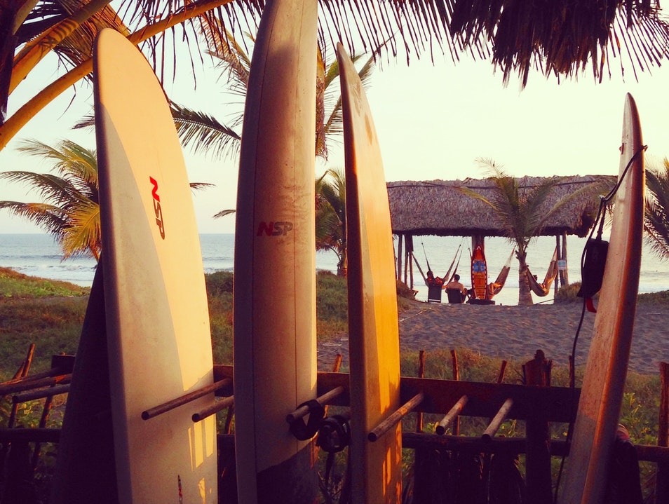Surfing where surfing is still a new thing El Paredón Buena Vista  Guatemala