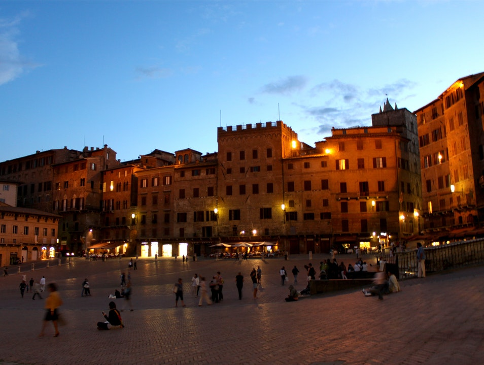 Town Square at the Heart of Siena