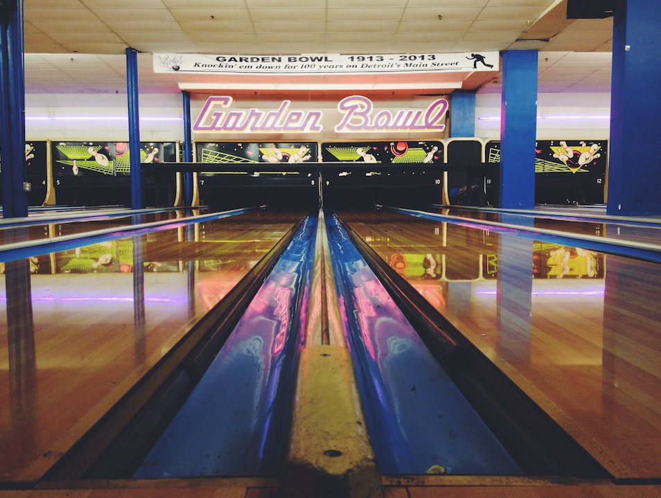 Bowl at the Working Man's Country Club Detroit Michigan United States