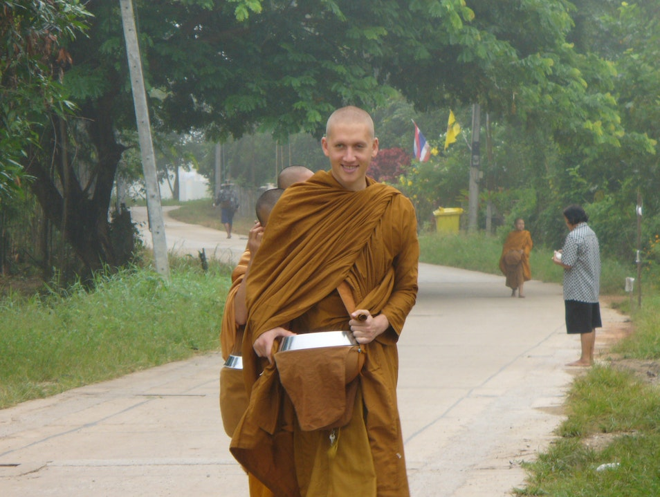 Ordaining as a monk in the Thai Forest Tradition.