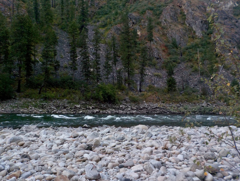 Camping on the Main Salmon River Salmon Idaho United States
