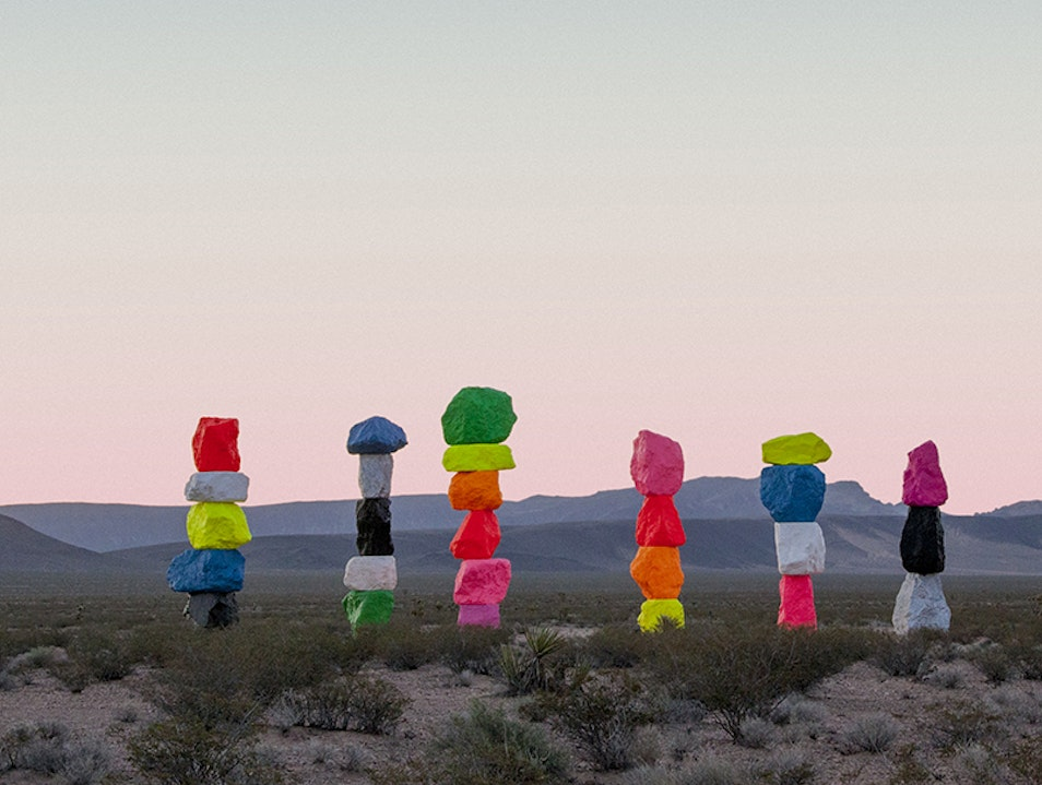 Seven Magic Mountains Sloan Nevada United States