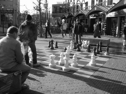 Chess at Max Euweplein Amsterdam  The Netherlands