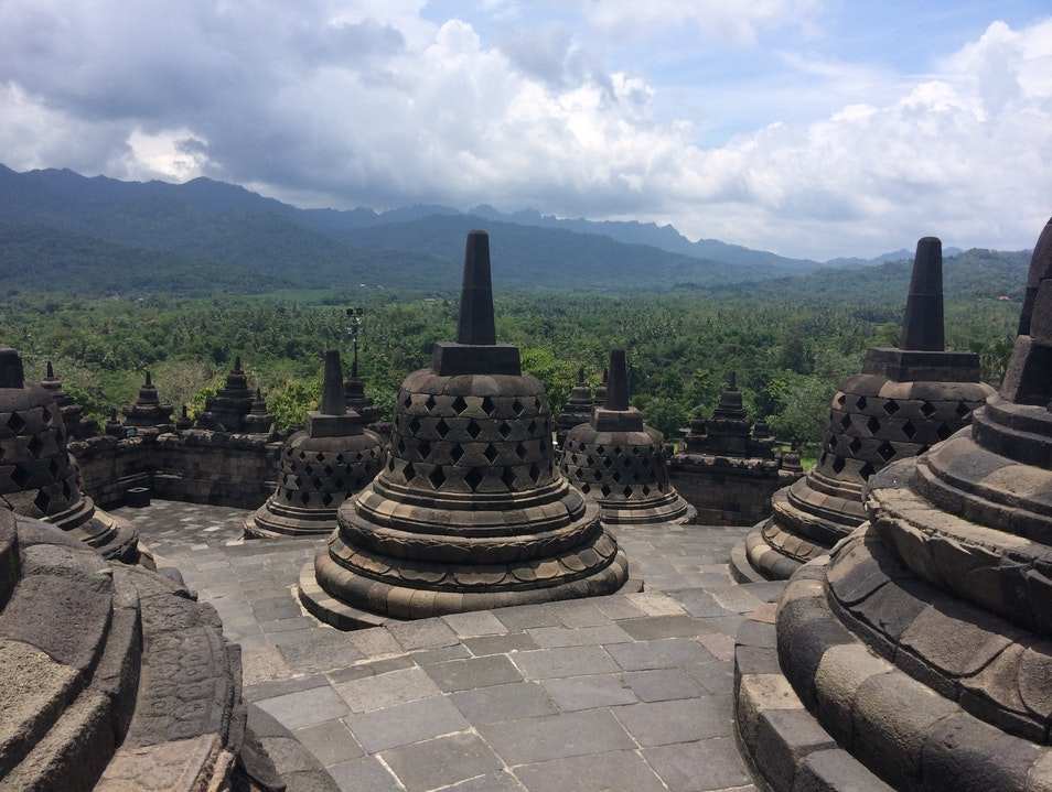 The Sacred Grounds of Borobudur Borobudur  Indonesia