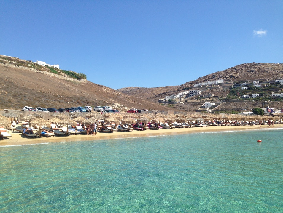 Elia Beach- Best Beach in Mykonos Elia  Greece