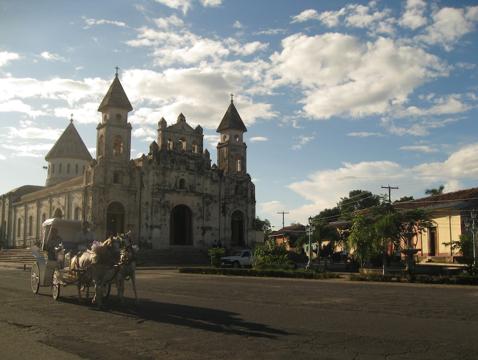 Central America Cathedral Exploring City Granada  Nicaragua