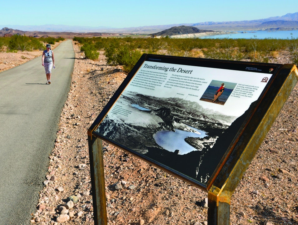 Exercise Along a Scenic Loop Trail Boulder City Nevada United States