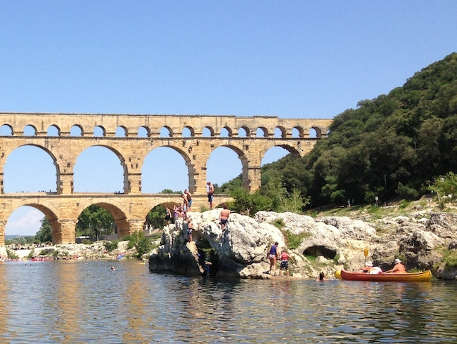 Le Pont du Gard by kayak