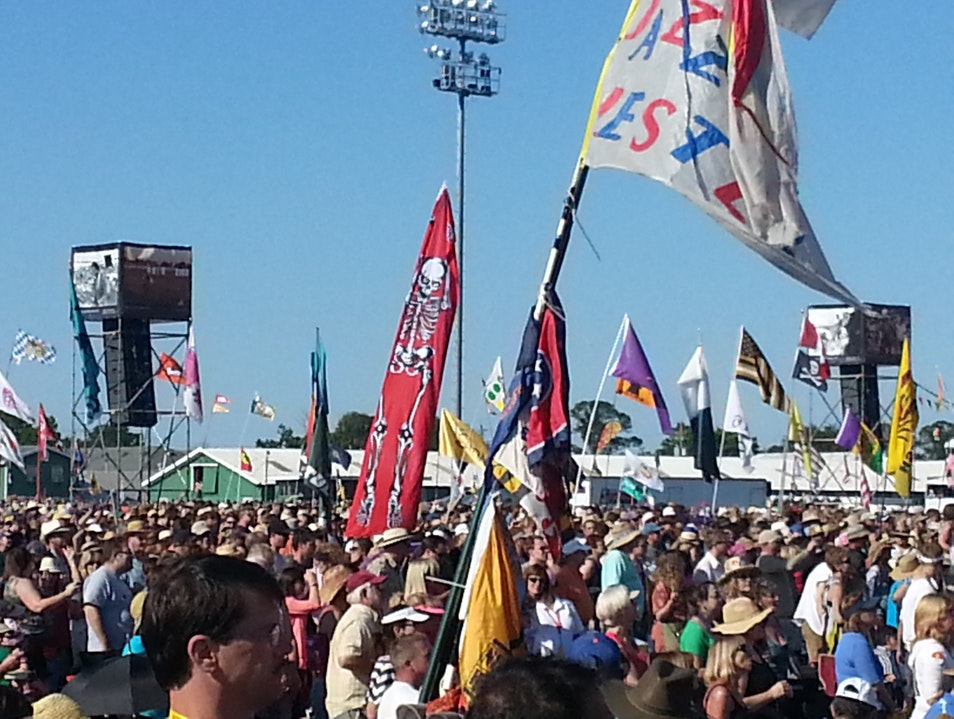 Flags out @ the New Orleans Jazz & Heritage Festival New Orleans Louisiana United States