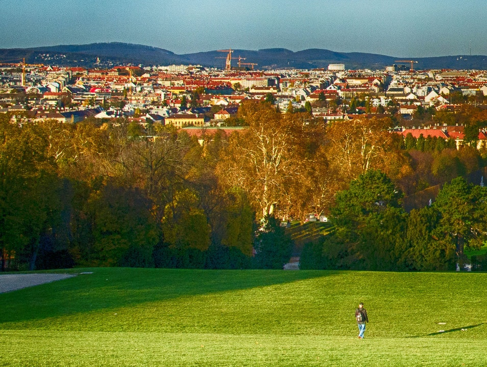 A view of Schoenbrunn from the Gloriette Vienna  Austria
