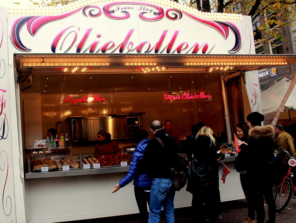 Holiday Harbinger: Oliebollen Stands Amsterdam  The Netherlands
