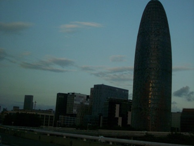 Watch the sun set behind Barcelona's 3rd tallest skyscraper