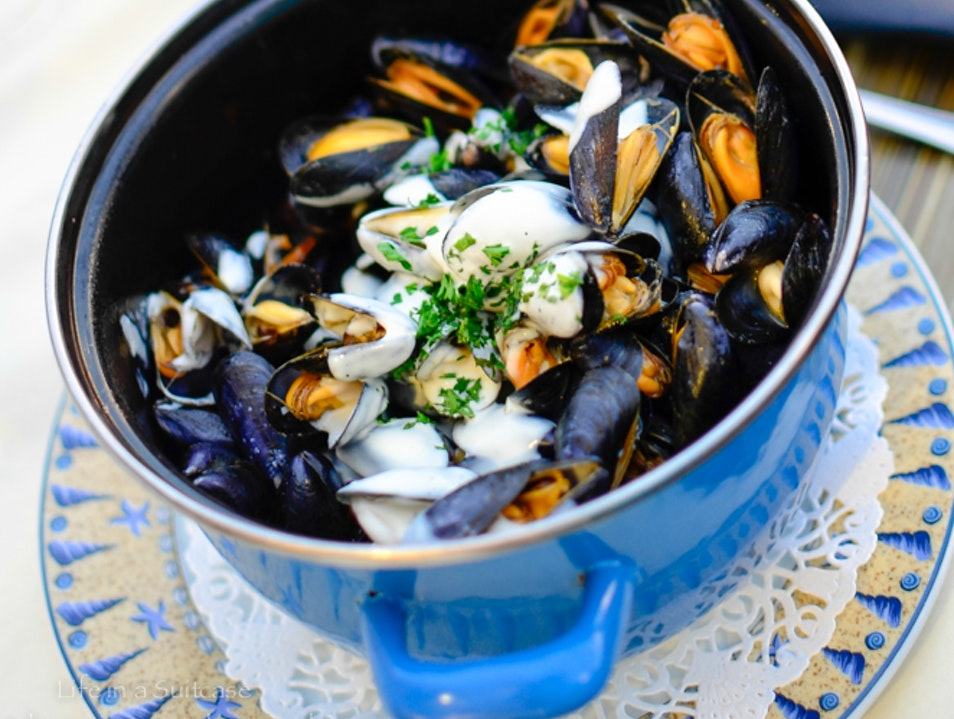 Normandy mussels