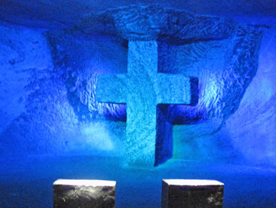 An Underground Cathedral Composed of Salt Zipaquira  Colombia