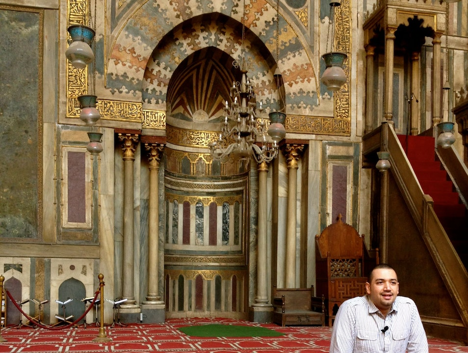 A Modern Imam at Sultan Hassan Cairo  Egypt