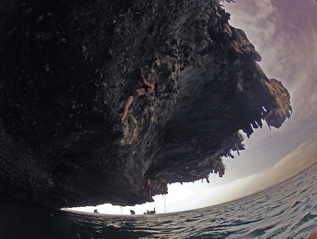 Deep Water Soloing in Southern Thailand