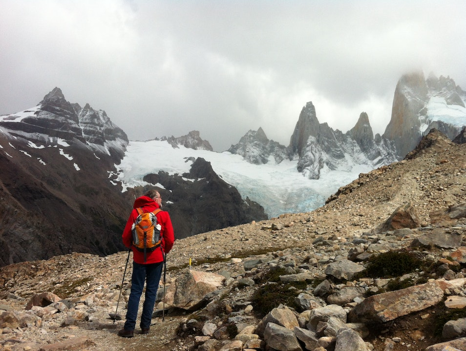 The reward at the top of the mountain El Chaltén  Argentina