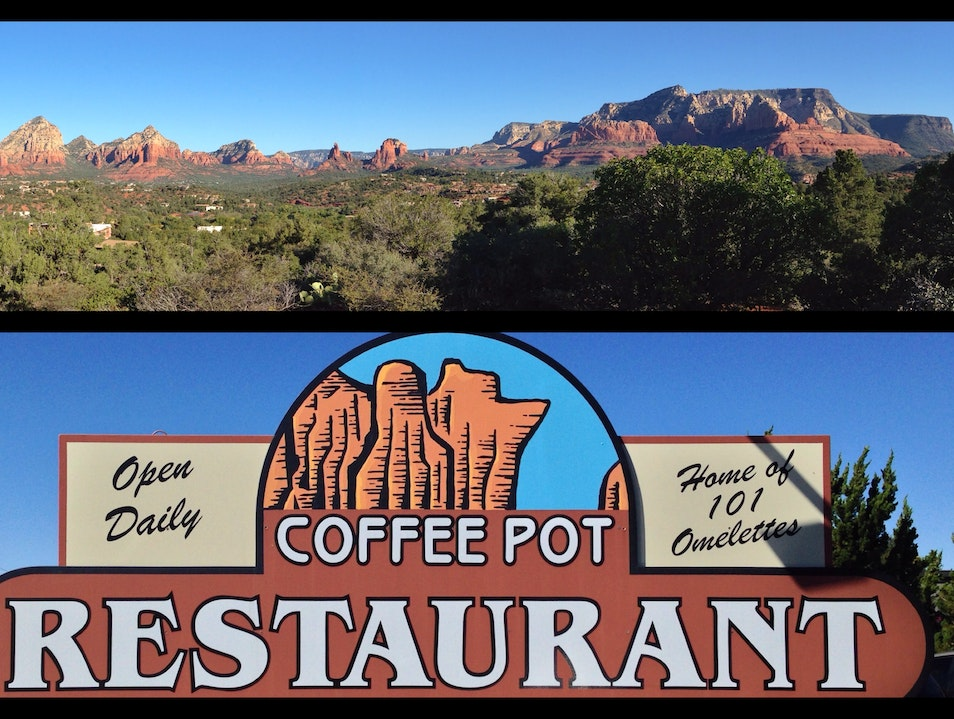 Fuel up at Coffee Pot before hiking out to the Coffee Pot Sedona Arizona United States