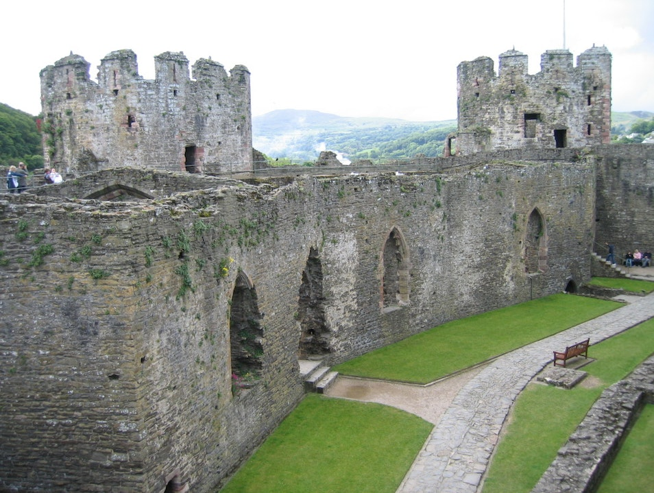 The outer ward of the Castle Conwy  United Kingdom