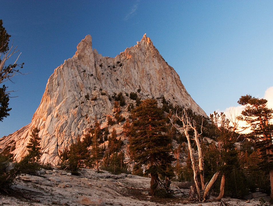 Backpacking to Cathedral Peak Mariposa California United States