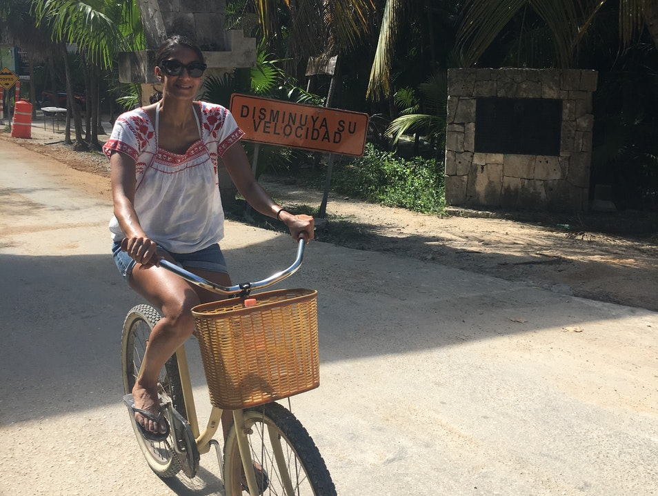 Biking the Sian Ka'an Biosphere Cancun  Mexico