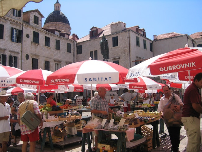 The market in Dubrovnik