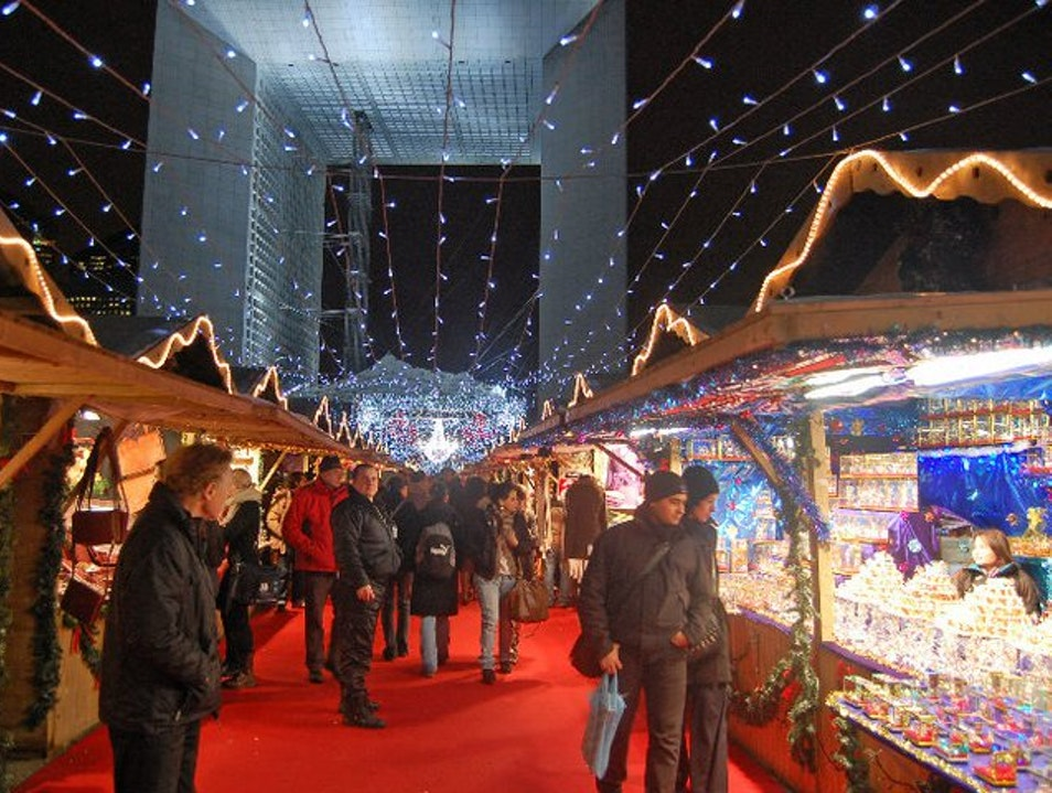 The Christmas Market in La Defense Puteaux  France