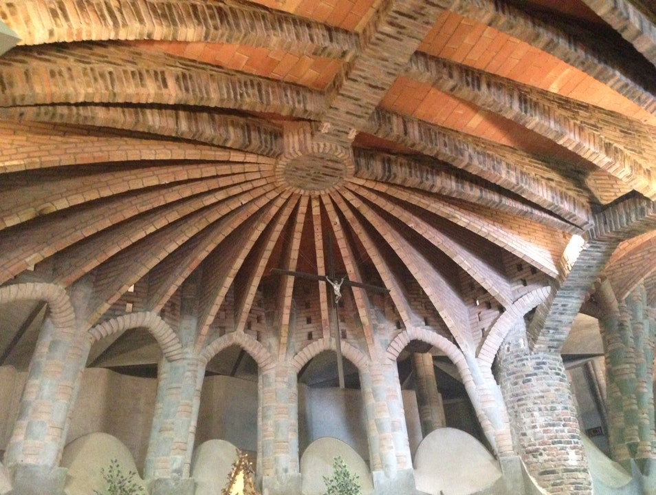 See the precursor to Sagrada Familia at Colonia Guell La Colònia Güell  Spain
