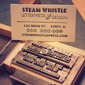Steam Whistle Letterpress and Design Cincinnati Ohio United States