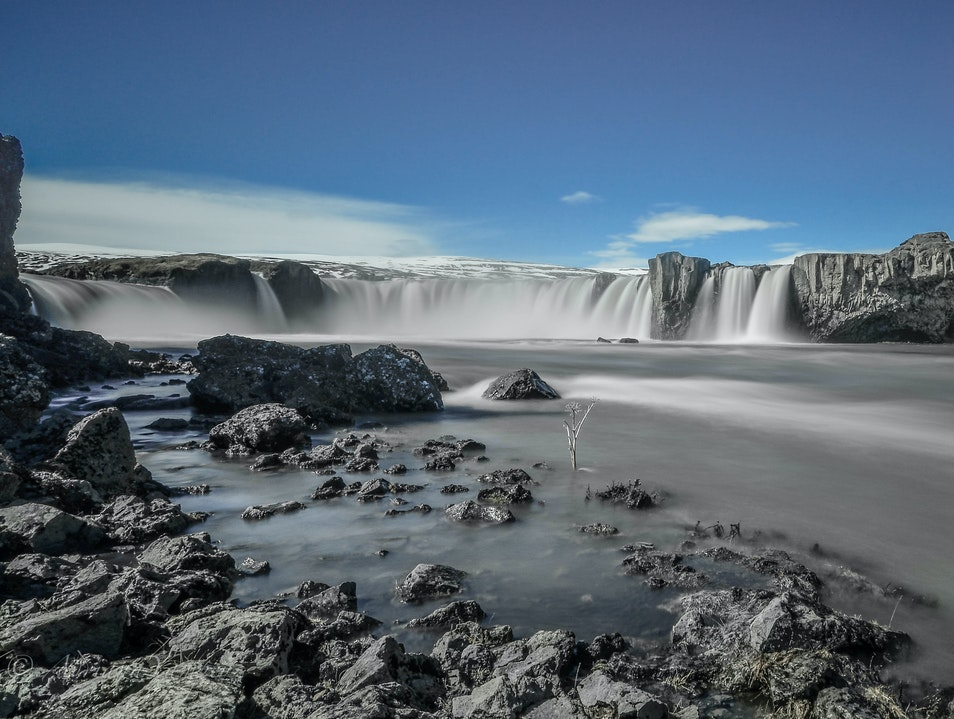The waterfall of the gods Grand Island  Iceland
