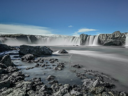 Godafoss Waterfall Grand Island  Iceland