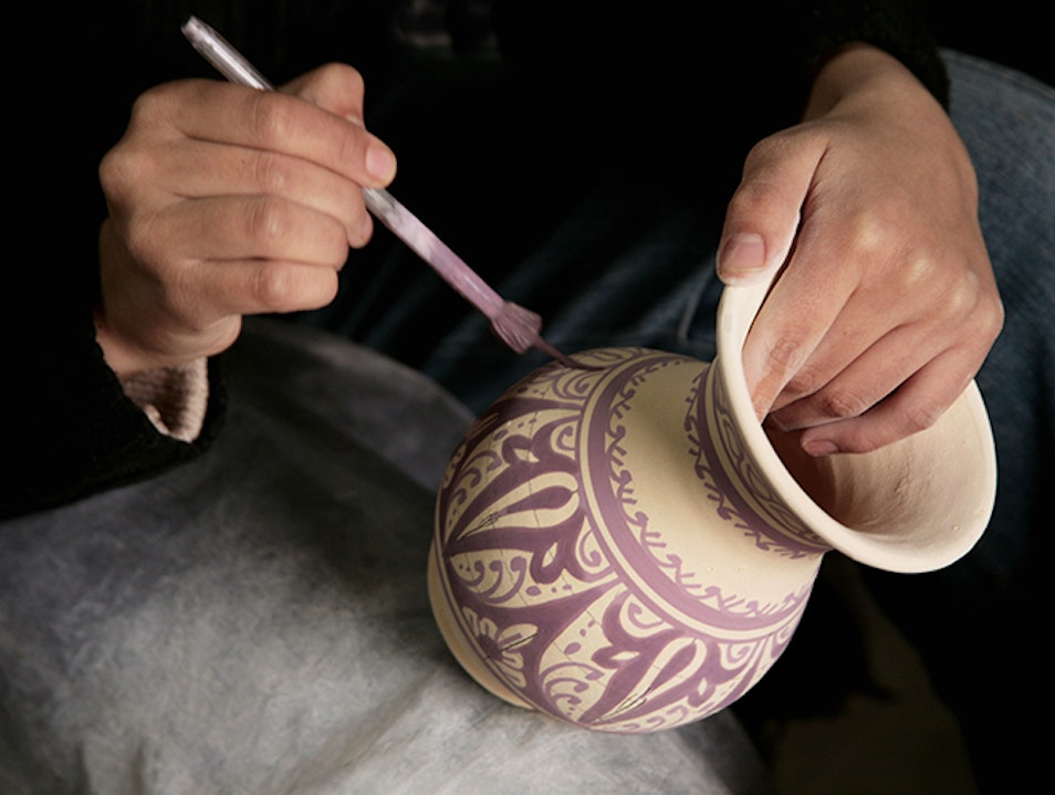 Fassi Pottery Fes  Morocco