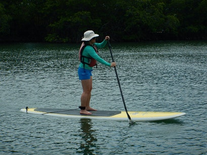 Paddleboarding on Vieques Vieques  Puerto Rico