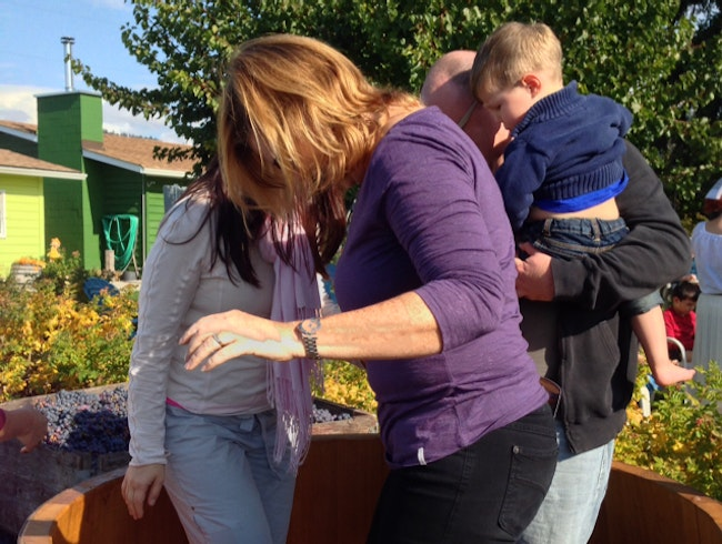 Grape Stomping at the Fall Wine Festival