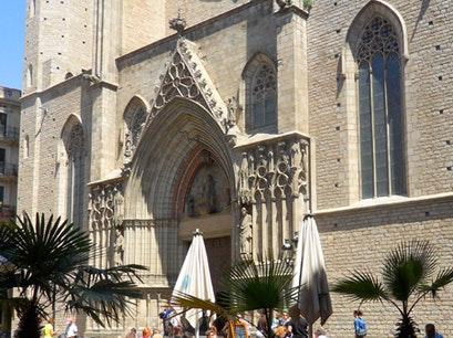 Church of Santa Maria del Mar Barcelona  Spain