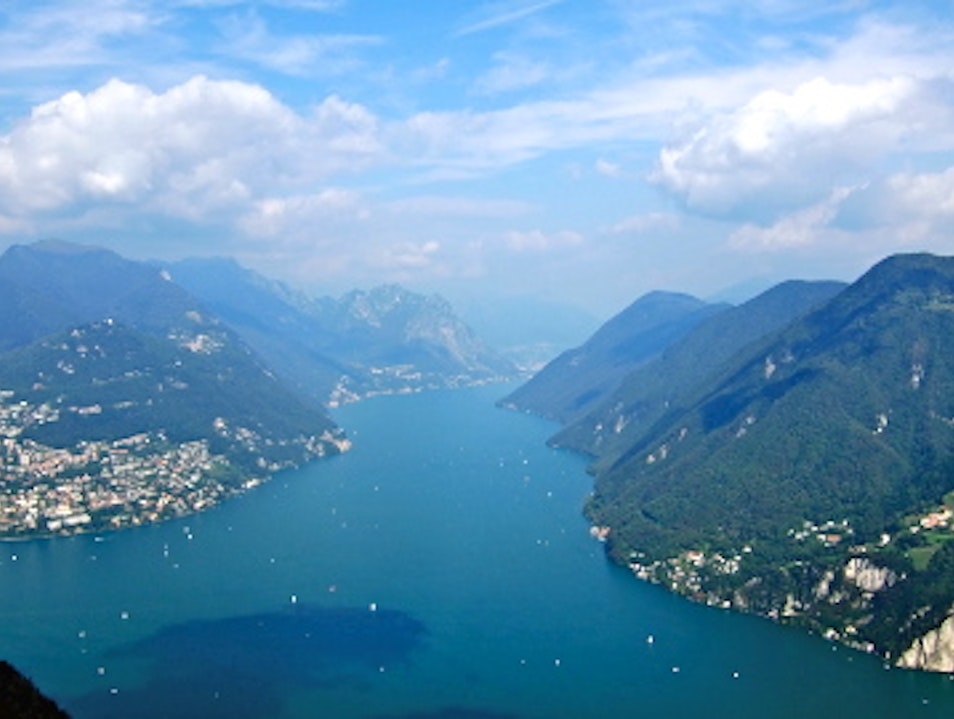 The View From Monte San Salvatore, Lugano, Switzerland Carona  Switzerland