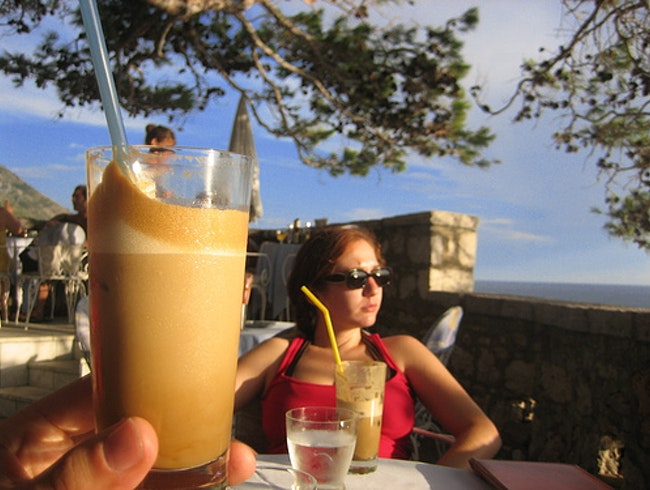 Iced Coffee in the Montenegro Sunshine
