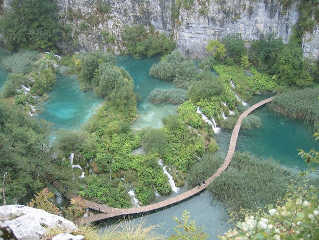 Even on an overcast day, Plitvice is sure to please with its meadering walkways and gorgeous scenery.