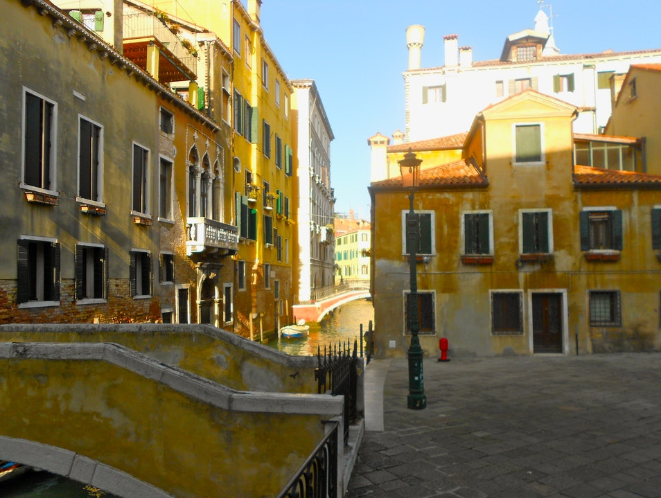 Little Yellow Square Venice  Italy